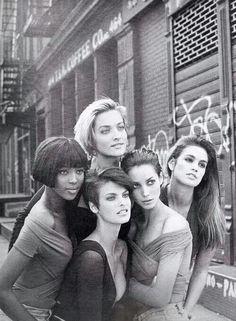 The original supermodels of the 90s. I totally idolized Linda Evangelista.