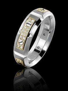 Carlex diamond luxury yellow and white gold ring. WB-9587YW-S. www.Gembycarati.com www.facebook.com/gembycarati
