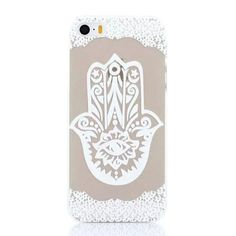 New Arrival Luxury Clear Plastic Phone Shell White Floral Paisley Flower Mandala Case Cover for iPhone 5 5S