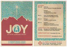 Vintage looking church christmas bulletin - Christmas play