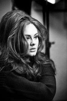 adele - not only can she sing she, I love her style. She's beautiful.