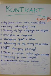 Przygody pewnej klasy...: Kontrakt klasowy