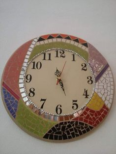 Mosaic Art, Clock, Craft Ideas, Decorations, Wall, Crafts, Home Decor, Wall Clocks, Mirrors