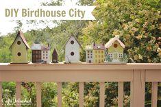 Diy Birdhouse City Tutorial - Crafts Unleashed