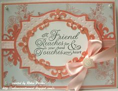 Friendship card designed by Robin Parker using Friendship Nested Sentiments.