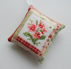 Cross Stitch Quilted Pincushion Tutorial