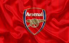 Lataa kuva Arsenal FC, Football Club, Premier League, jalkapallo, Lontoo, UK, Englanti, lippu, Arsenal tunnus, logo, Englannin football club