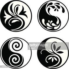 Set of yin yang symbols – Tattoo Pattern Arte Yin Yang, Yin Yang Art, Wallpaper Samurai, Jing Y Jang, Lottus Tattoo, Art Hippie, Medical Drawings, Yin Yang Designs, Impression Textile