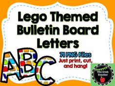 This product contains everything you need to create a bright and fun Lego themed bulletin board! Includes 71 high quality PNG files Upper and lowercase letters, numbers 0-9 as well as special characters ! # $ & * - + = ? . , Looking for even more Lego inspired classroom decor