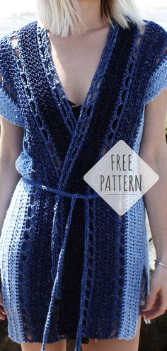 Ideas For Crochet Sweater Pattern Women Projects Crochet Patterns Free Women, Crochet Poncho Patterns, Crochet Jacket, Cardigan Pattern, Jacket Pattern, Crochet Cardigan, Crochet Shawl, Knit Crochet, Crochet Summer