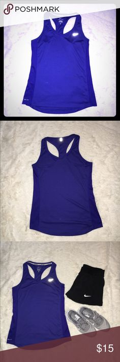Nike Tank Top Nike Dri-Fit running tank top. Preloved but in great condition! Nike Tops Tank Tops