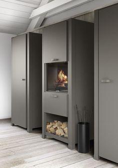 Küchenschrank mit Backofen mit Kühlschrank COLONNINA MINÀ by Minacciolo Design R&S Minacciolo
