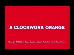 A clockwork orange movie title Movie Titles, I Movie, Movie Stars, Stanley Kubrick, A Clockwork Orange Movie, Orange C, French New Wave, Title Card, Typography