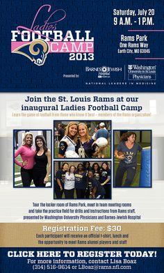 St. Louis Rams Ladies Football Camp