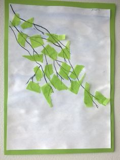 Use tissue to oclude laundry window. And/or paint as the background. Fall Arts And Crafts, Summer Crafts, Fun Crafts, Paper Crafts, Spring Art, Summer Art, Fine Motor Activities For Kids, Art Lessons Elementary, Nature Crafts