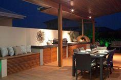 Create an amazing alfresco area - Hotondo Homes Outdoor Areas, Outdoor Rooms, Outdoor Dining, Outdoor Kitchens, Hotondo Homes, Alfresco Designs, Alfresco Area, Outdoor Kitchen Design, Display Homes