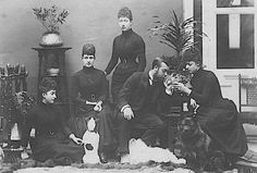 """thefirstwaltz: """"The Wales's pictured in 1892, shortly after the death of Prince…"""