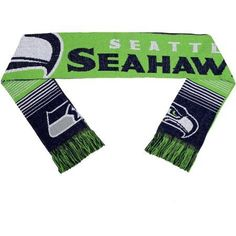 NFL Forever Collectibles Reversible Split Logo Scarf, Seattle Seahawks, Green