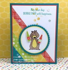 Bubble Over and We Must Celebrate by Krista Thomas, 2018 Occasions Catalog, Stampin' Up!