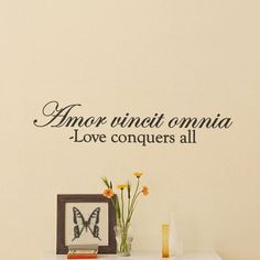 Whether above the doorway or adorning an accent wall, this charming typographic wall decal brings inspirational style to your home. Product: Wall decalConstruction Material: VinylColor: BlackDimensions: H x W I Tattoo, Cool Tattoos, Tattoo Time, Sweet Tattoos, Quotes To Live By, Me Quotes, Love Conquers All, Future Tattoos, Wall Decals