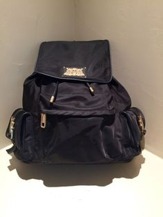 Juicy Couture Black Nylon Back Pack W/ Gold Trim- Free Shipping Available #JuicyCouture #BackpackStyle