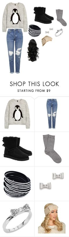 """Untitled #360"" by phoridavies on Polyvore featuring H&M, Topshop, UGG Australia, Falke, Marc by Marc Jacobs, Kate Spade and gotem"