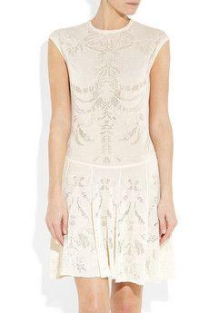 Alexander McQueen  Skeleton-weave fine-knit dress