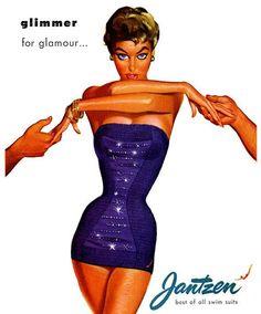 Jantzen vintage swimwear ad