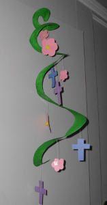 Paper Plate Easter Mobile | AllFreeKidsCrafts.com
