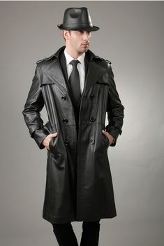 Hat is a bit stingy, but that coat //Hot guy in a black leather coat   http://liamhubpages.hubpages.com/hub/Best-Mens-Leather-Coats