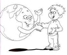 Desde hace 37 años, el día 22 de abril se celebra el ignorado y poco vistoso Día de la Tierra . La primera manifestación tuvo lugar el... Earth Day Coloring Pages, Colouring Pages, Harmony Day, Graduation Crafts, Save Our Earth, Coloring Sheets For Kids, Kids English, Doodle Lettering, Science Activities