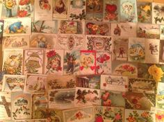 Nice! Vintage/Antique Lot of 1900's Holiday/Greetings Postcards-100 Cards-ttt437 #Easter