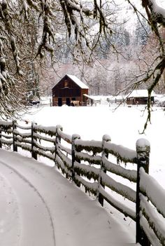Beauty Of Winter For The Barn
