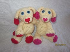 Ravelry: Mini Valentine's Day Puppy free crochet pattern by Melissa Trenado, thanks so for kind share xox