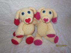 Ravelry: Mini Valentine's Day Puppy free crochet pattern by Melissa Trenado