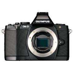 Olympus OM-D Digitalkamera - Schwarz (Kit mit M.Zuiko Digital ED Objektiv) Cameras Nikon, Slr Camera, Camera Pouch, Olympus Digital Camera, Digital Slr, Secure Digital, Compact, Smartphone, Digital Cameras