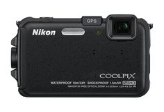 Nikon COOLPIX AW100 16 MP CMOS Waterproof Digital Camera with GPS and Full HD 1080p Video (Black) ** Visit the image link more details.