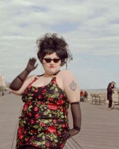 """""""'A stylist told me the other day that I should grow my bangs out and I had to tell her 'Its not always about being pretty. Sometimes its about looking bigger'"""" @BethDitto says. Self-described as a """"fat feminist lesbian"""" Ditto has unapologetically celebrated her body and her queerness from the beginning becoming a muse for designers like @MarcJacobs and @jpgaultierofficial. As she enters into her next phase as a solo artist Ditto discusses beauty music and love in the link in our bio…"""