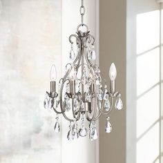 "Kathy Ireland Hollis 15"" Wide Crystal Swag Chandelier - #4C775 