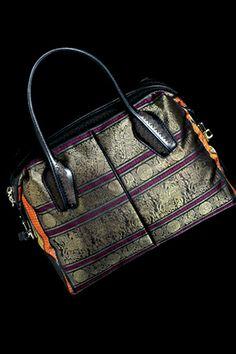 Tod's #Bag with Kanchipuram Silk, via @Juhi Dhingra  ~