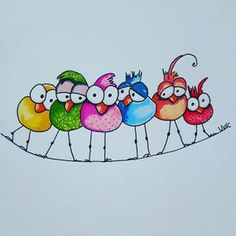 Birdwire Birdwire Related posts:Zierfelsen: - Ums Haus herum - # - Gartengestaltung Easy Step By Step Art Drawings To Practice - Bored Art Art Fantaisiste, Happy Paintings, Watercolor Cards, Whimsical Art, Bird Art, Doodle Art, Bird Doodle, Easy Drawings, Rock Art