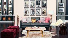 Feminine Living Room with a Masculine Edge | Steven and Chris | Sarah Keenleyside shows us how she decorates a feminine inspired living room with a bit of an edge.