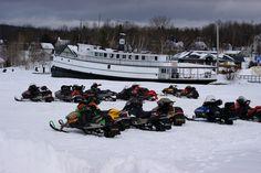 Moosehead Lake area is the snowmobile capital of the East!  #Moosehead Lake #Greenville #Maine