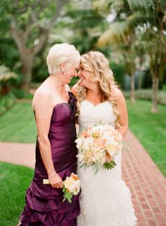 mother-daughter wedding pic :)