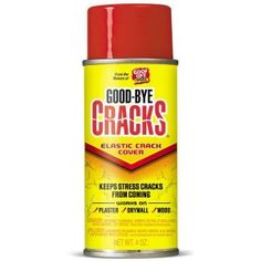 """Fix cracks in plaster with this elastic """"skin."""" Then prime and paint. Goof Off 4-oz. Goodbye Cracks Elastic Crack Cover Spray-FG695 at The Home Depot"""