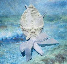 Seagull Starfish Boutonniere or Corsage by ShellScapes on Etsy