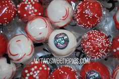 Corporate Cake Pops!! These are for Got You Floored here in Greensboro! Great way to promote your business with a sweet treat! Enjoy!