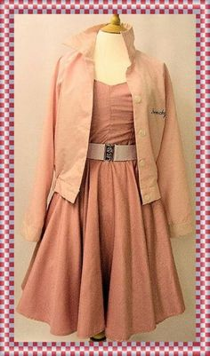 50's style  Pink Lady. Grease.