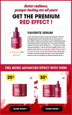 One of our steady seller SKIN&LAB Red Serum | Get  advanced red effect with NEW Red Cream & Red Serum + Red Cream set