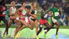 08.20.16 Caster Semenya (RSA) runs away with the women's 800m.It wasn't this close. #Rio2016
